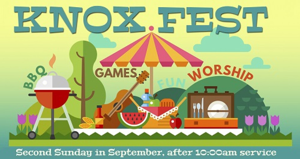 10 am worship & Knox Fest