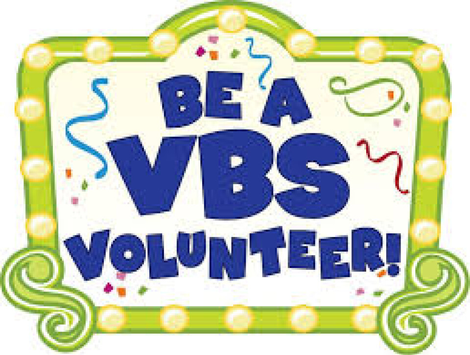 Student Volunteer for Vacation Bible School 2017