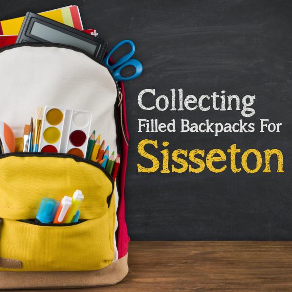 Backpacks for Sisseton, SD due today